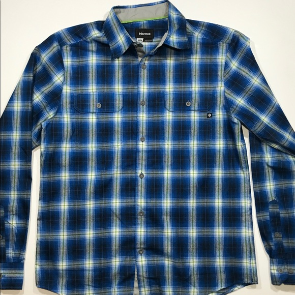 Marmot Other - Men's Marmot L/S Button Plaid Shirt Medium Blue